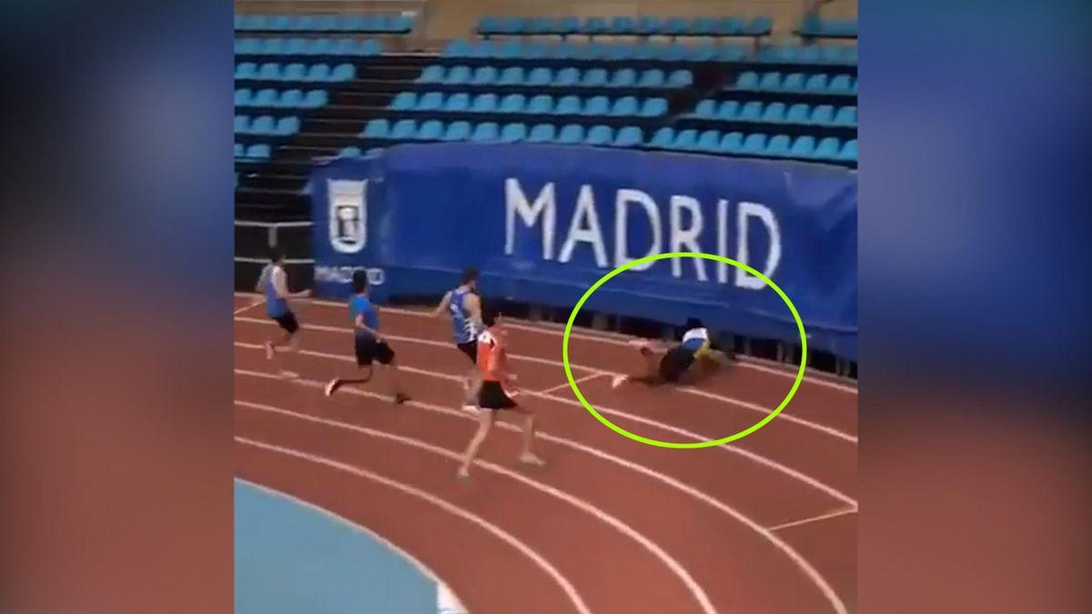caída atletismo