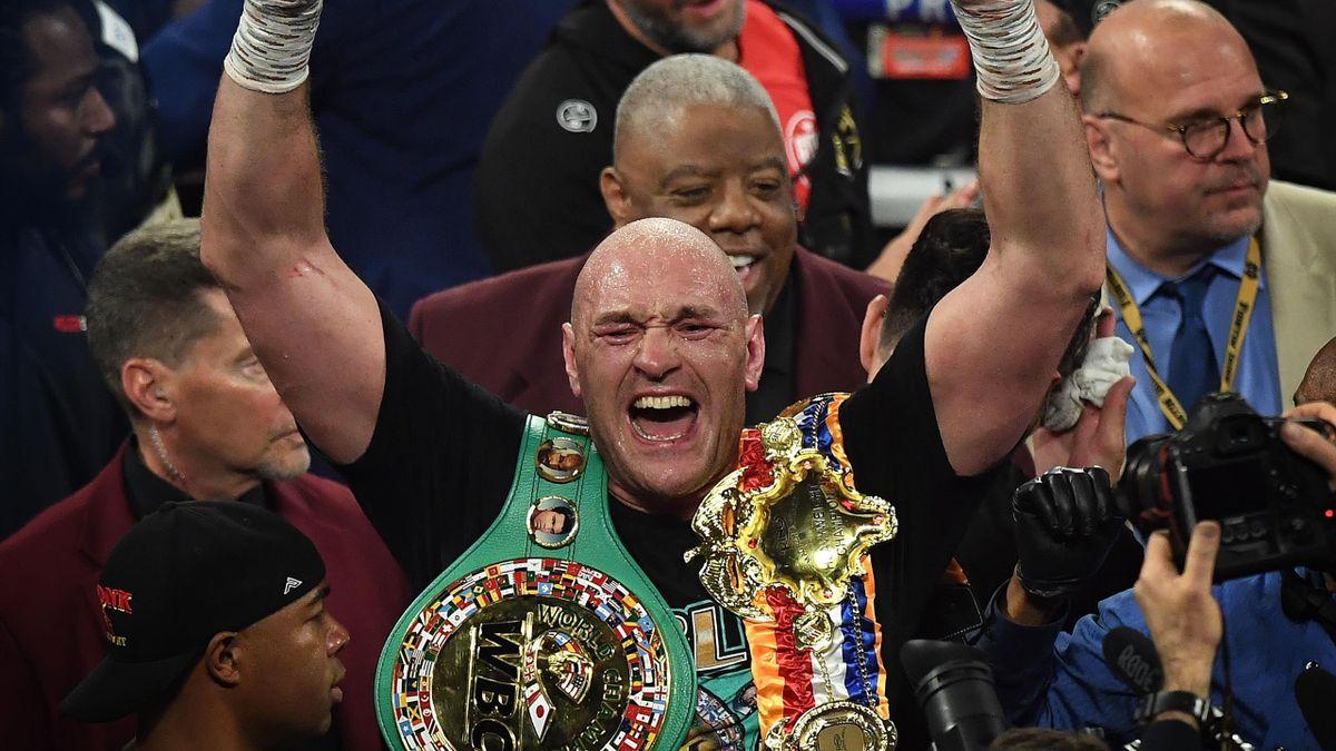 Tyson Fury nach seinem Erfolg gegen Deontay Wilder