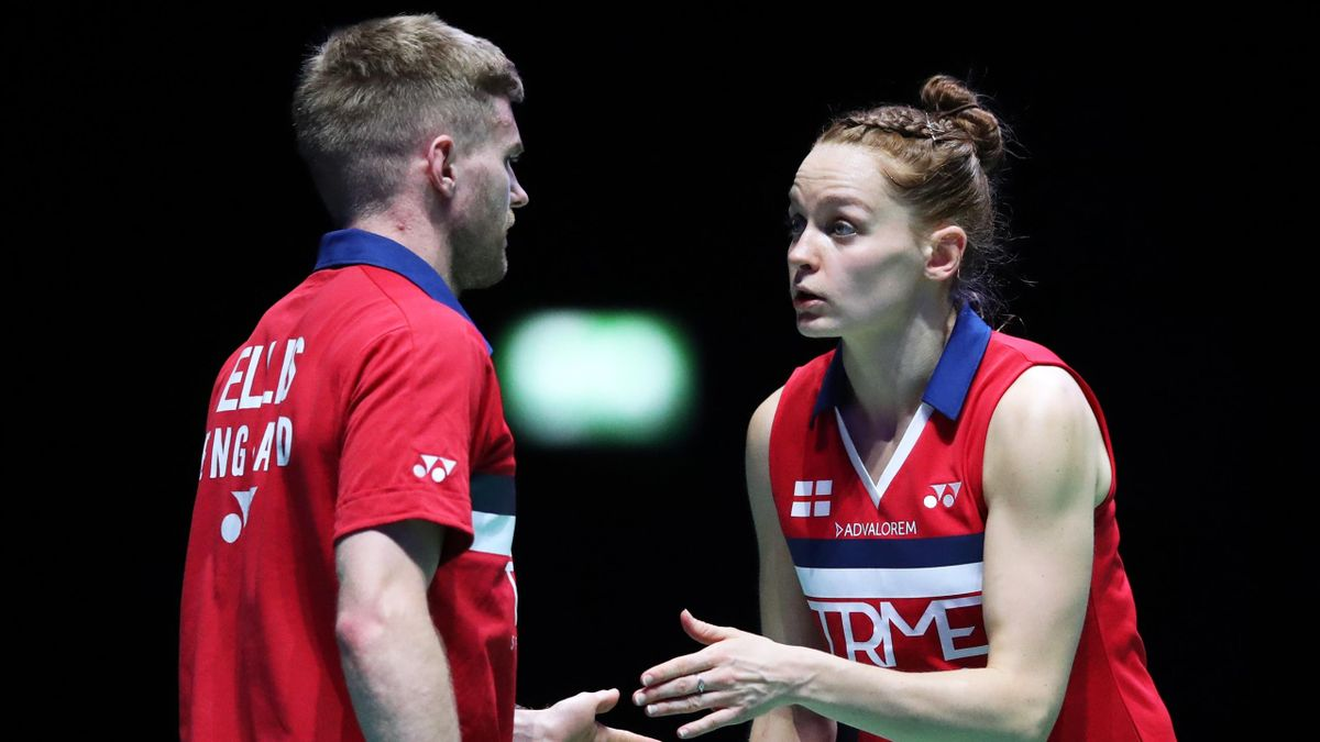 Lauren Smith and Marcus Ellis, YONEX All England Open Badminton Championships at Utilita Arena Birmingham, March 20, 2021
