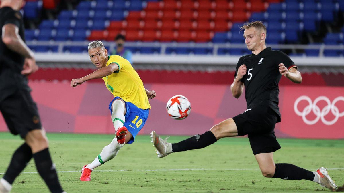 Tokyo 2020 football: Richarlison scores hat-trick goal against Germany