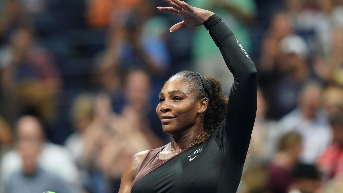 Serena Williams of the US celebrates her victory over Magda Linette of Poland during their 2018 US Open Women's Singles match at the USTA Billie Jean King National Tennis Center in New York on August 27, 2018