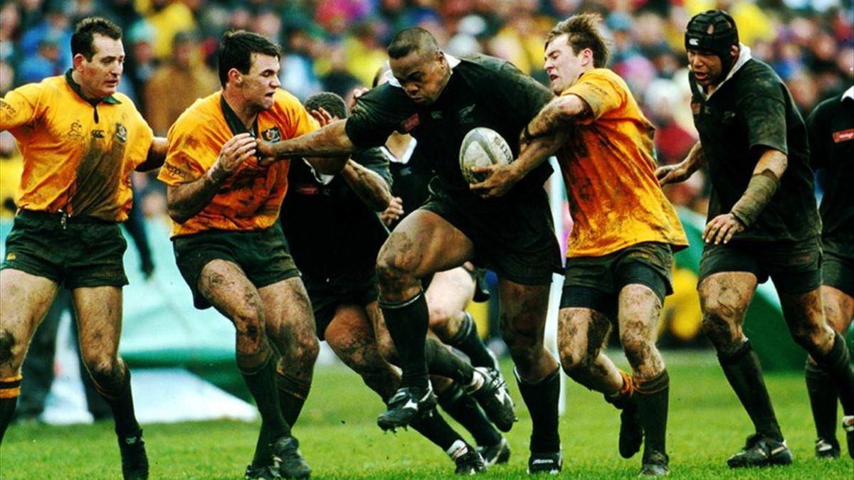 Jonah Lomu (All Blacks) face à l'Australie en 1996