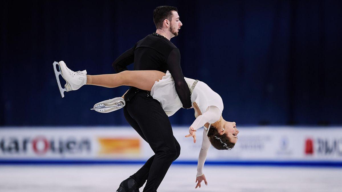 Annika Hocke und Robert Kunkel bei der Eiskunstlauf-WM in Stockholm