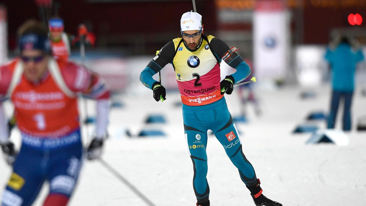 Martin Fourcade lors de la poursuite à Östersund