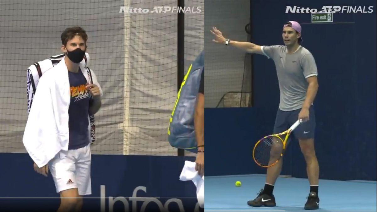 Dominic Thiem y Rafa Nadal - ATP Finals 2020