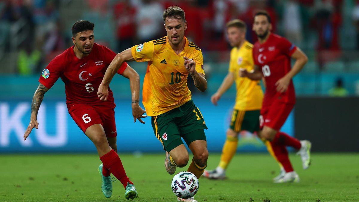 Aaron Ramsey im Spiel gegen die Türkei