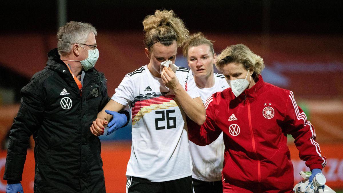 Lena Lattwein im Spiel gegen die Niederlande