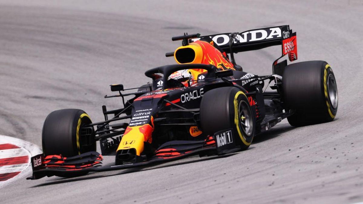 Max Verstappen durante il GP di Spagna valido per il Mondiale 2021