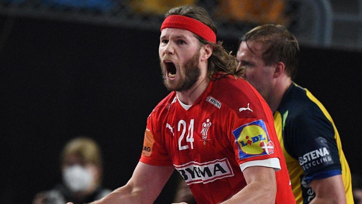 Mikkel Hansen lors de Danemark - Suède en finale du Mondial 2021