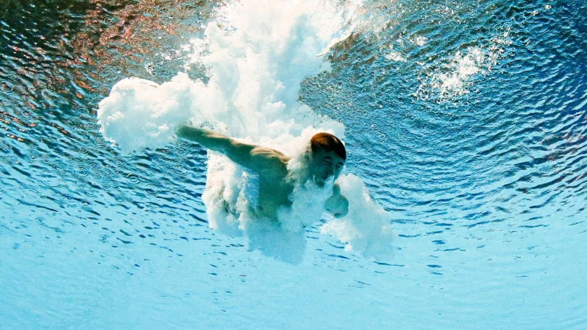 Jack Laugher of Great Britain diving