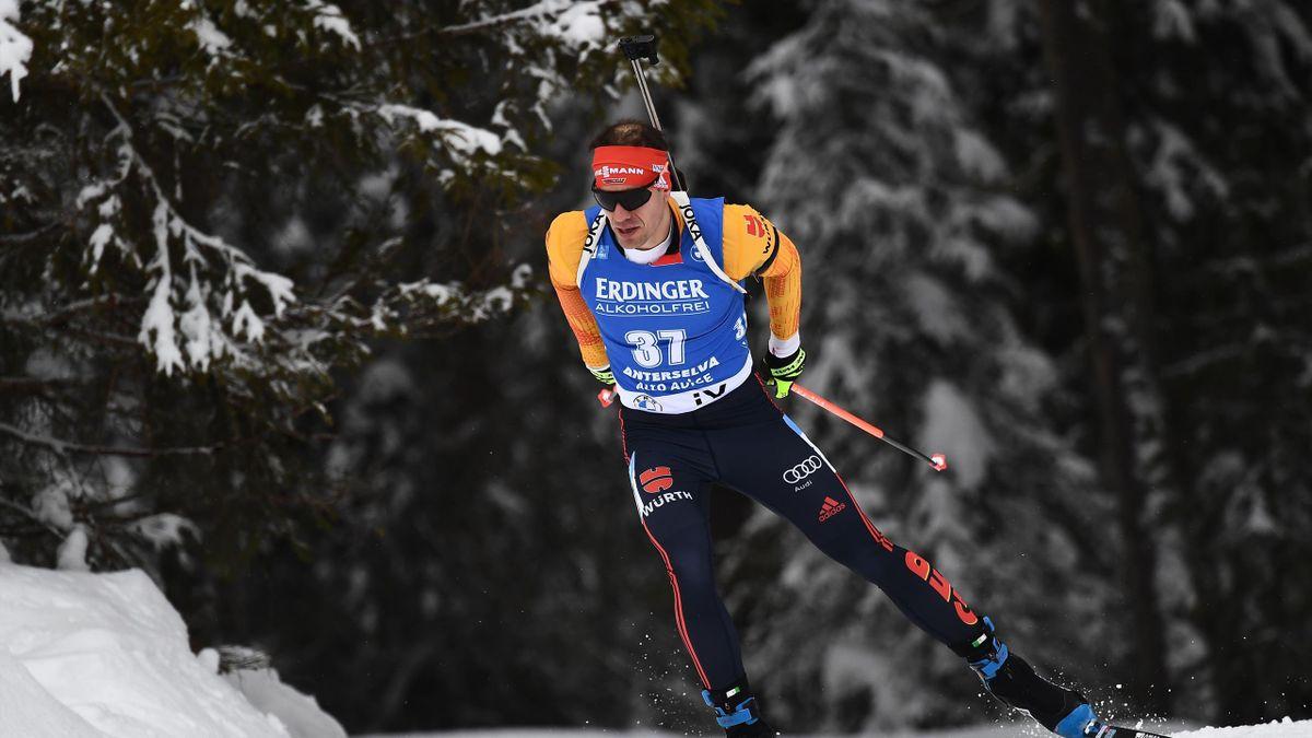 Arnd Peiffer beim Biathlon-Weltcup in Antholz