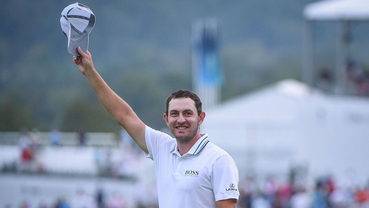 Patrick Cantlay lifts his hat in celebration after winning the PGA Tour s BMW Championship at Caves Valley on Sunday.