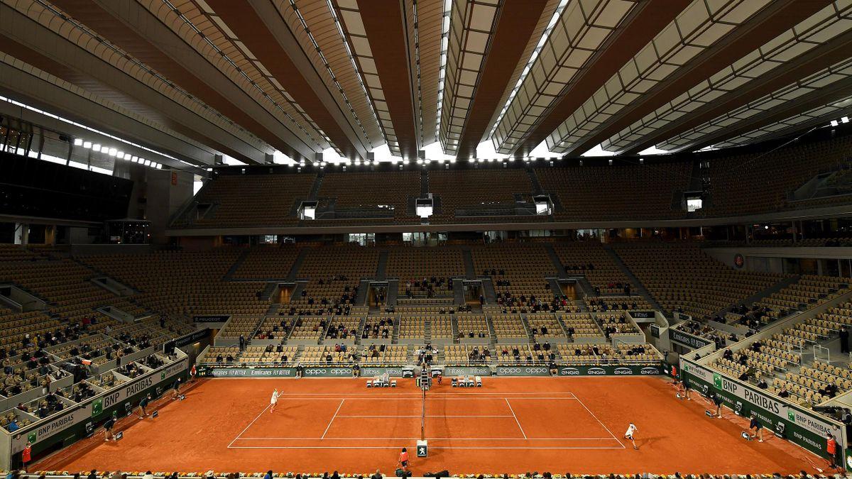 Le court Philippe-Chatrier à Roland-Garros en 2020