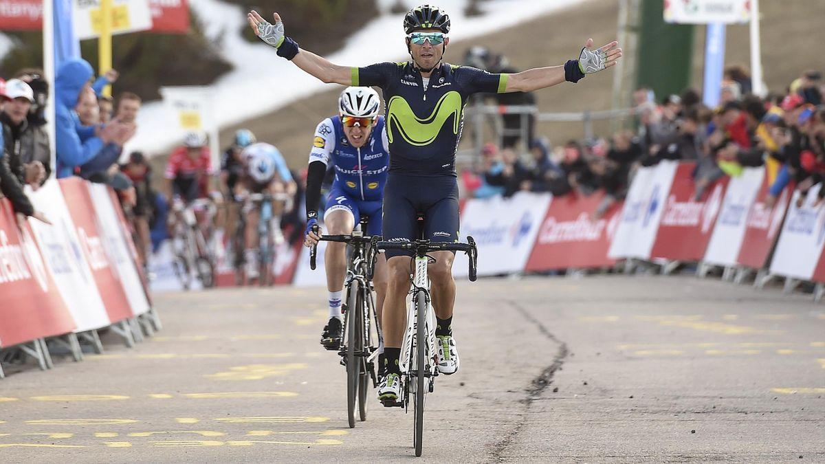 Alejandro Valverde (Movistar), vainqueur à La Molina devant Dan Martin (Quick Step)