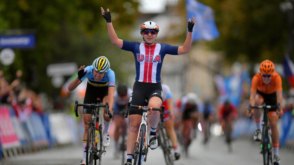 Rad-WM: Megan Jastrab sprintet zu Gold