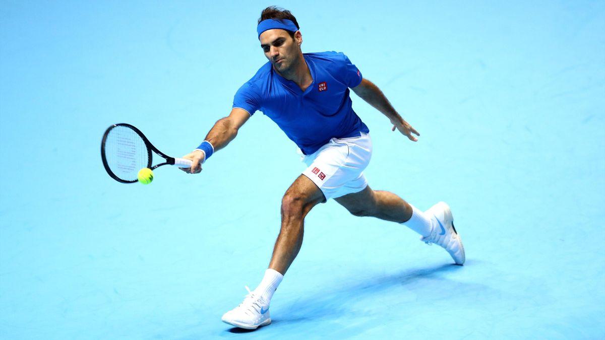 Roger Federer face à Dominic Thiem lors du Masters