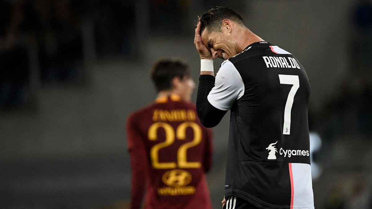 La delusione di Cristiano Ronaldo - Roma-Juventus Serie A 2018-19