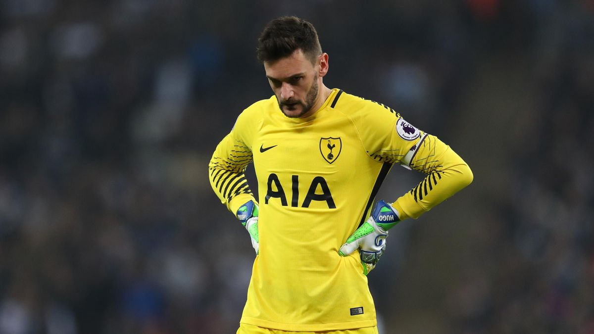 LONDON, ENGLAND - APRIL 14: A dejected looking Tottenham Hotspur goalkeeper Hugo Lloris during the Premier League match between Tottenham Hotspur and Manchester City at Wembley Stadium on April 14, 2018 in London, England. (Photo by Catherine Ivill/Getty