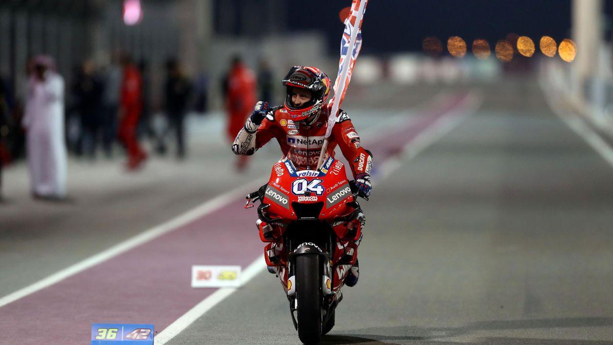 Andrea Dovizioso esulta per il primo successo dell'anno in Qatar, MotoGp, Qatar Gp,Getty Images