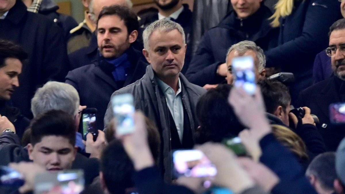 Former Inter Milan's coach from Portugal Jose Mourinho arrives at the Italian Serie A football match Inter Milan' vs Sampdoria