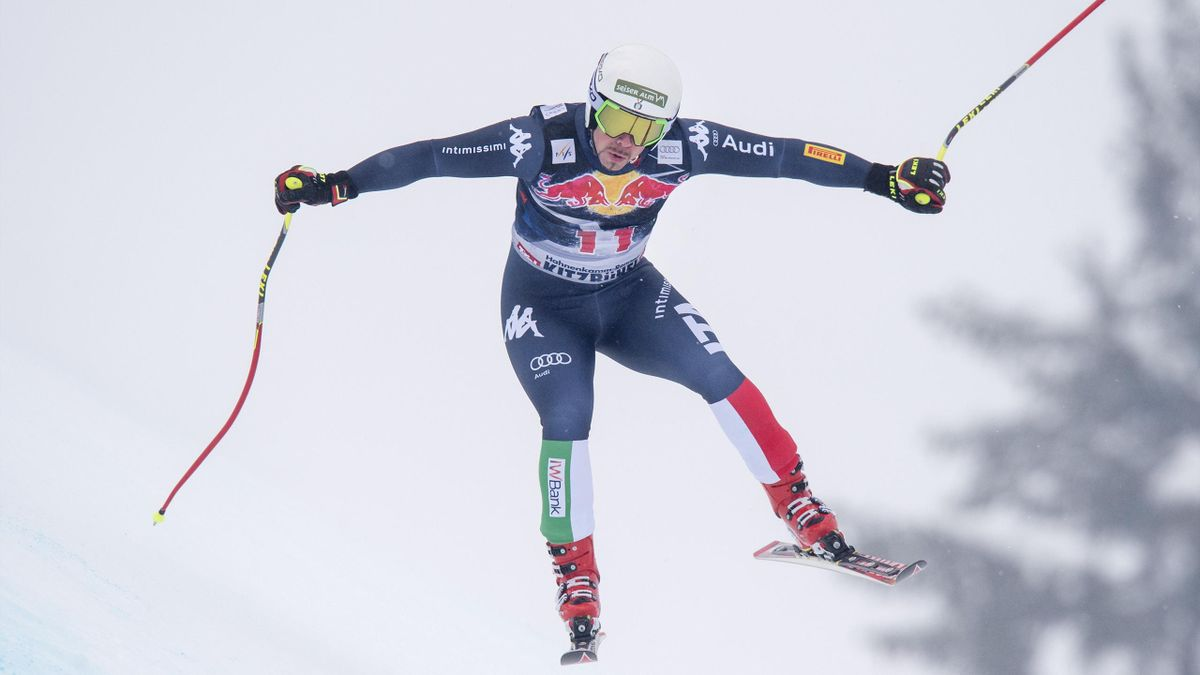 Peter Fill lors de la descente de Kitzbühel