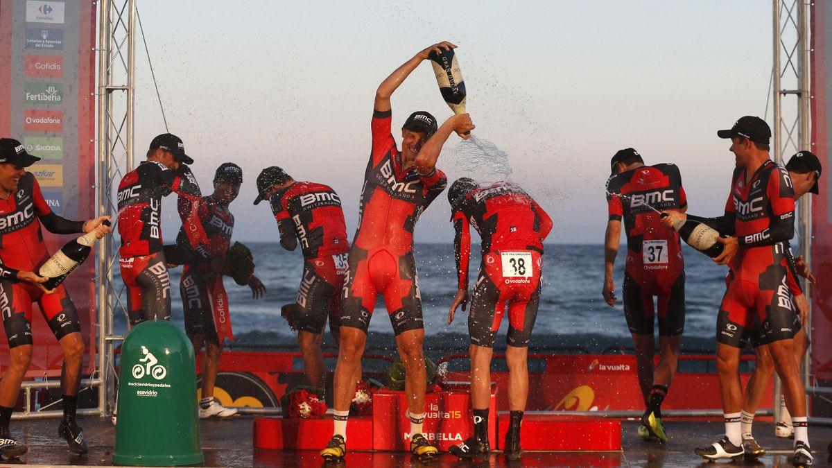 BMC celebra la primera victoria de etapa en La Vuelta