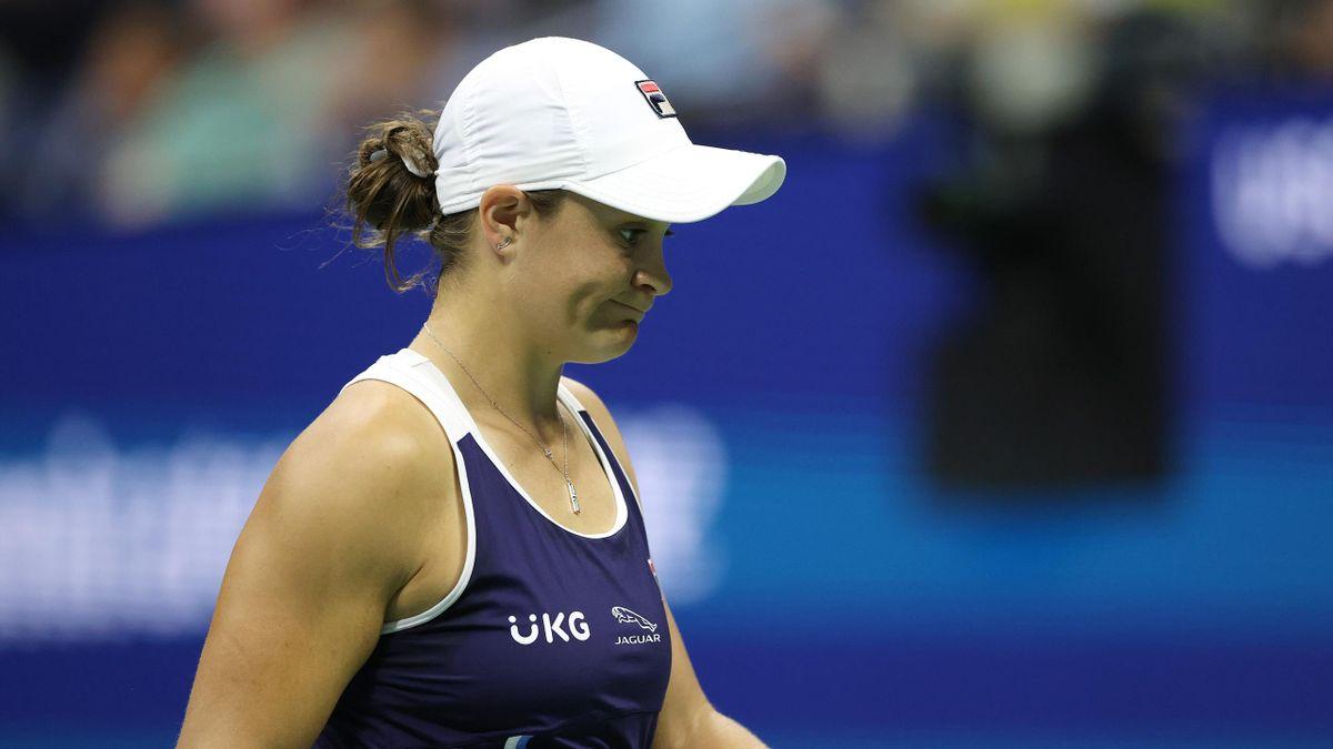 Ashleigh Barty lors de son match du 3e tour contre Shelby Rogers à l'US Open 2021