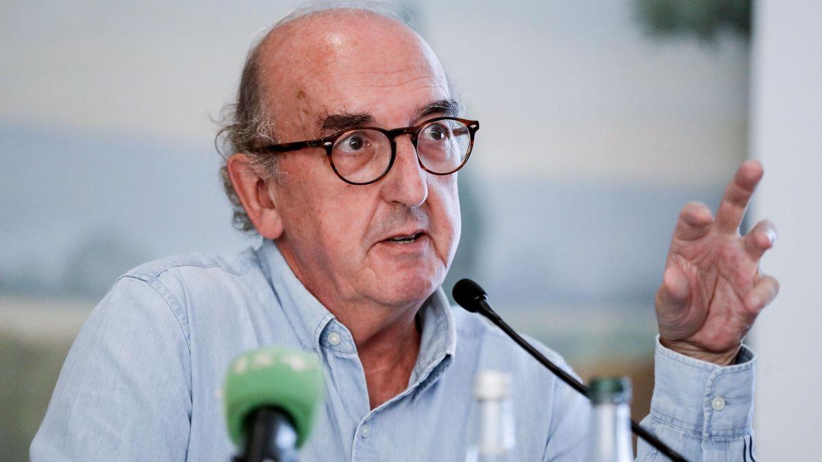 Jaume Roures (fondateur et président de Mediapro), lors d'une conférence de presse à Paris, le 31 mai 2018