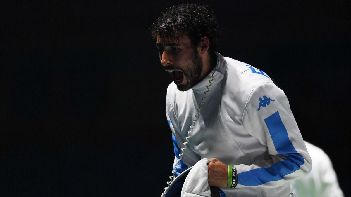 Marco Fichera durante le Olimpiadi di Rio de Janeiro 2016