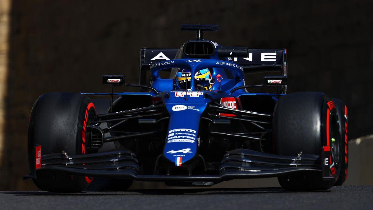 Fernando Alonso (Alpine). GP Azerbaiyán 2021