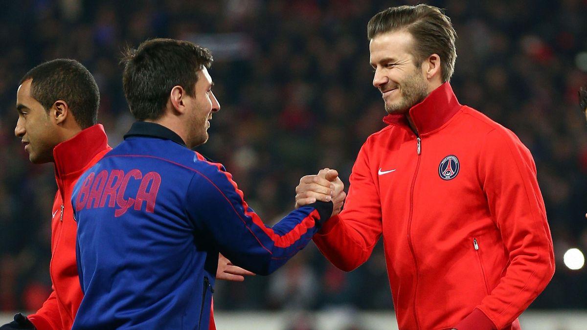 Lionel Messi und David Beckham