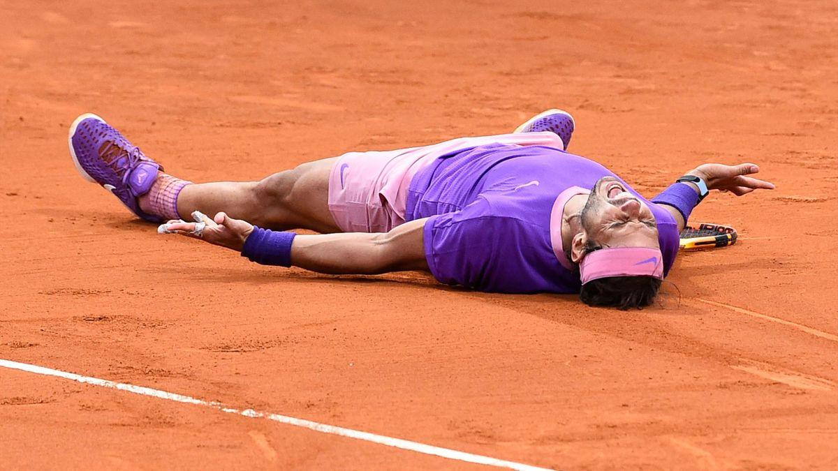 Rafael Nadal nach seinem Titelgewinn in Barcelona