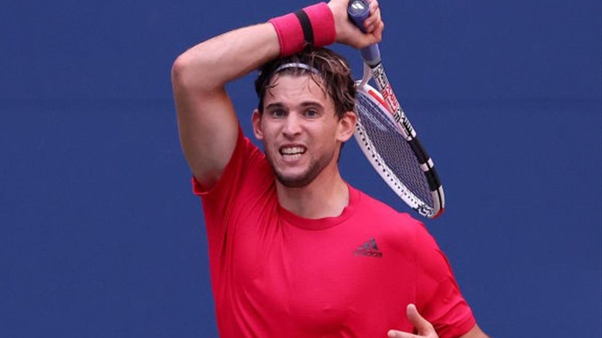 Dominic Thiem during his match against Felix Auger-Aliassime at the US Open