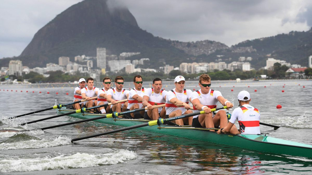 Der Deutschland-Achter bei Olympia in Rio