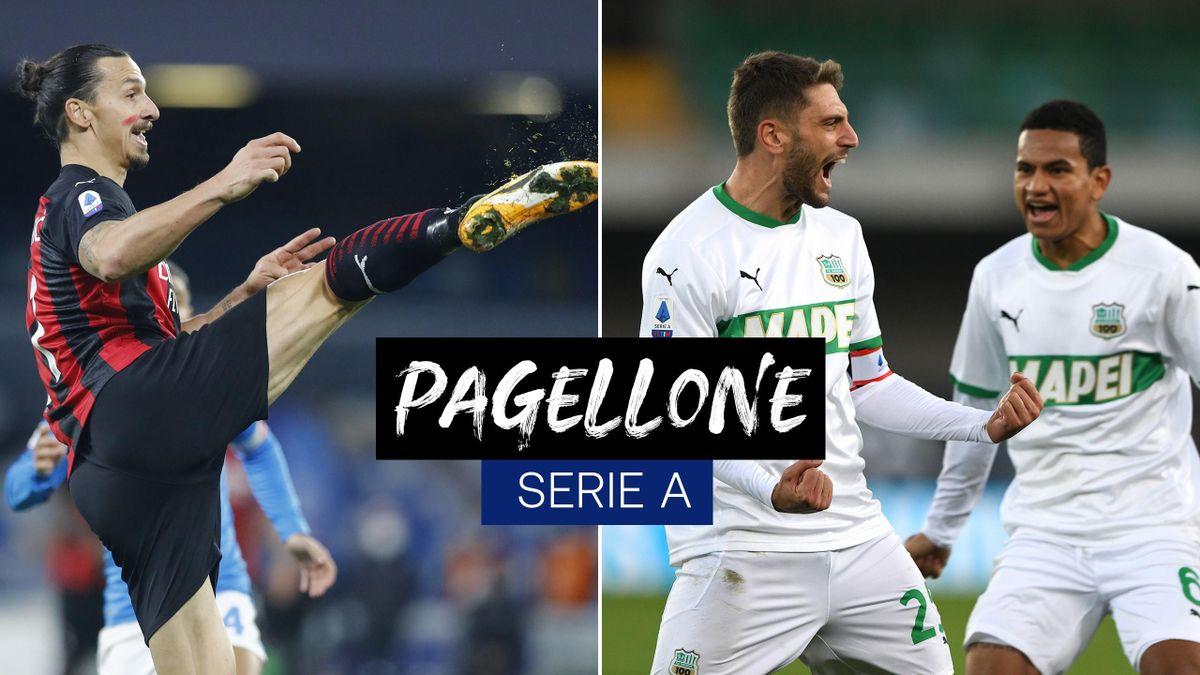 Pagellone 8a giornata di Serie A: Ibrahimovic e Sassuolo volano