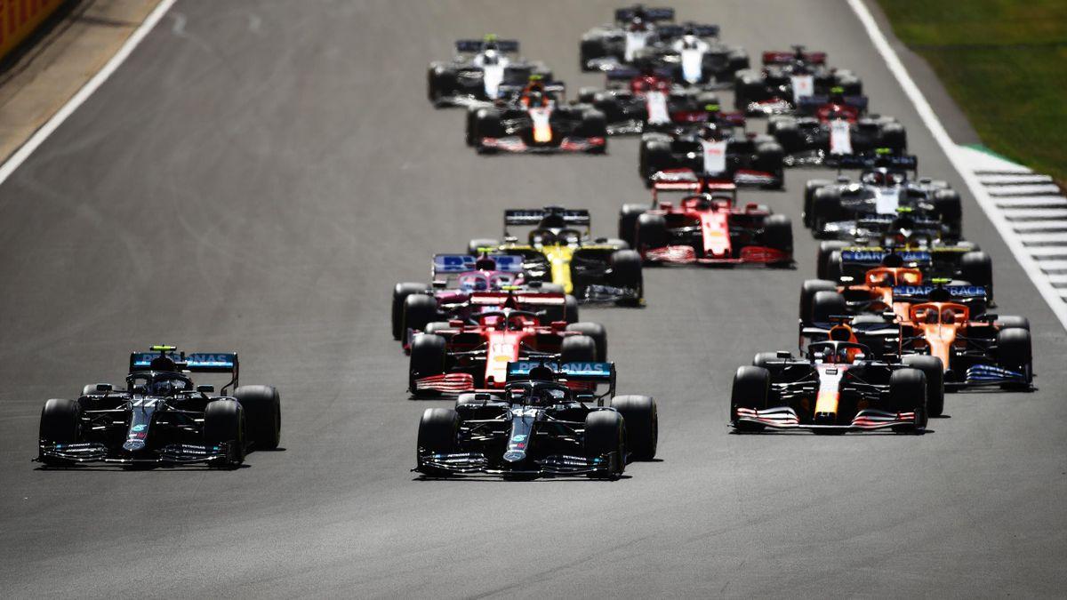 La partenza del GP di Silverstone 2020, Formula 1, Getty Images