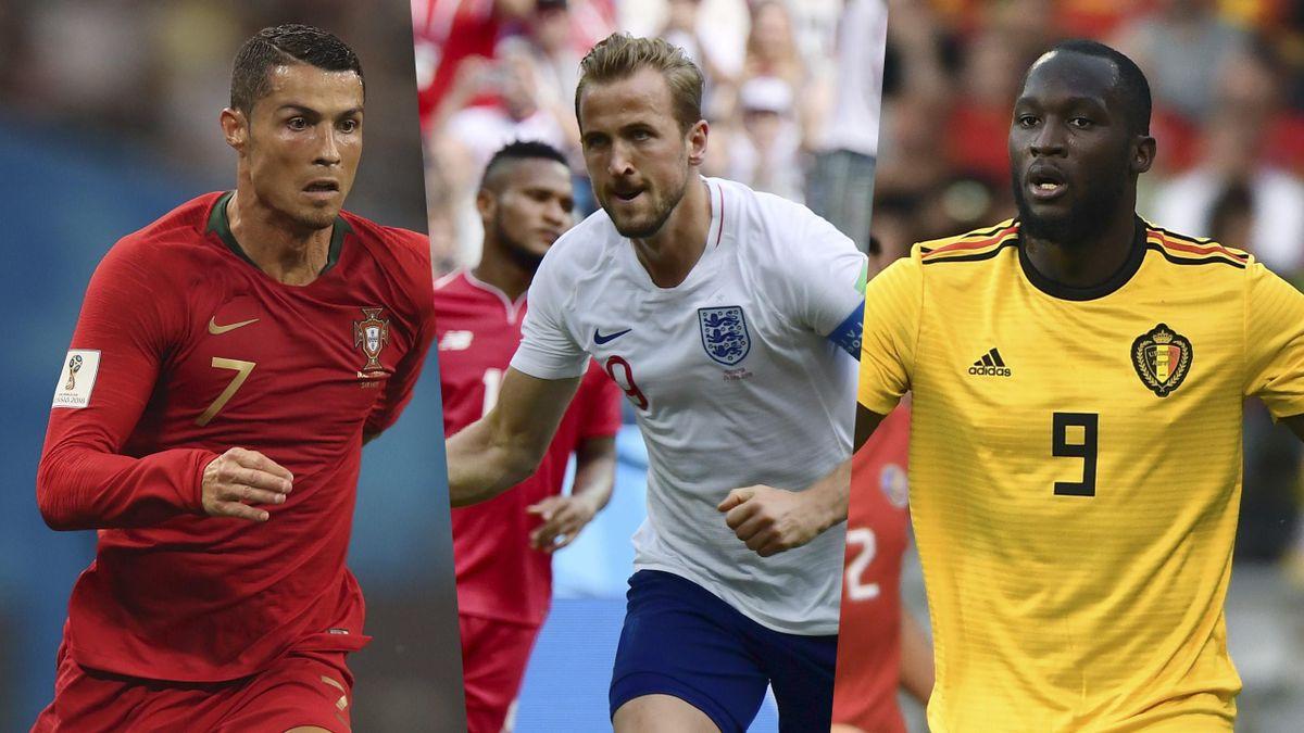 Cristiano Ronaldo, Harry Kane and Romelu Lukaku