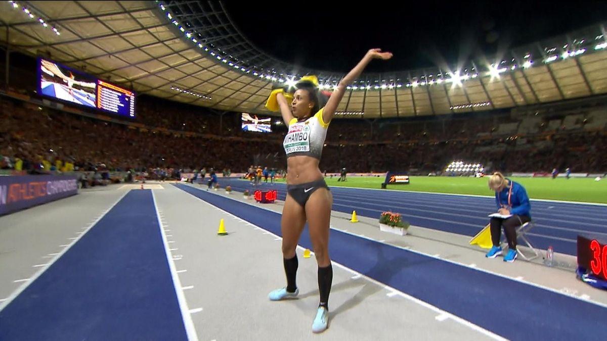 ECH : long jump women - Mihambo's last jump for the win