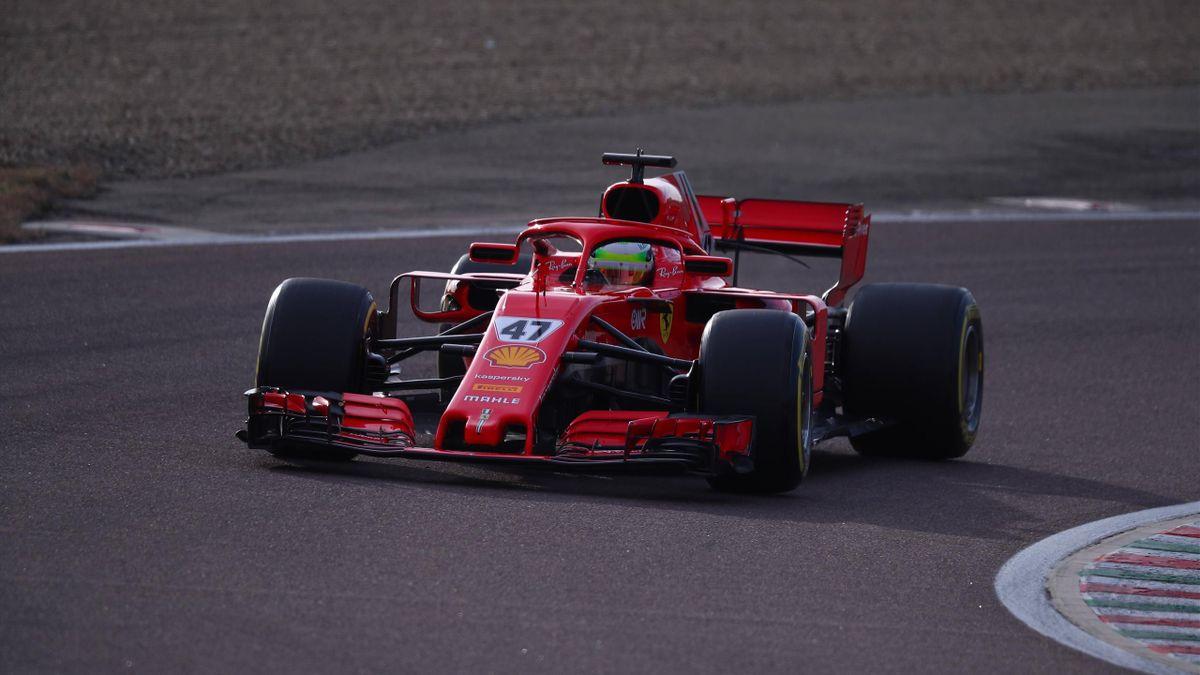 Mick Schumacher testet einen 2018er-Ferrari in Fiorano