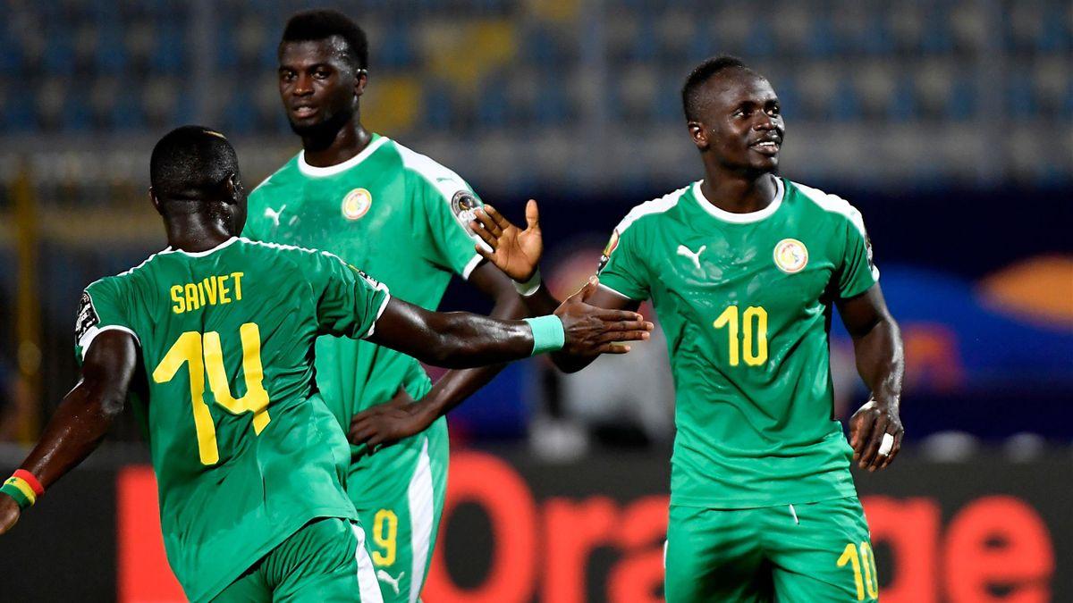 Sadio Mané esulta in Kenya-Senegal - Coppa d'Africa 2019