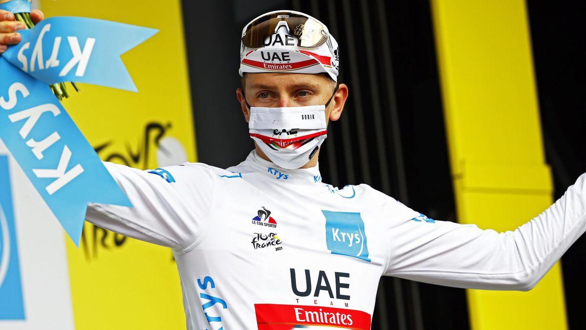 Tadej Pogacar a survolé le chrono à Laval lors de la 5e étape du Tour de France 2021.
