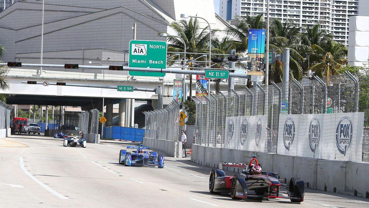 2015 FIA Formula E Miami ePrix in downtown Miami