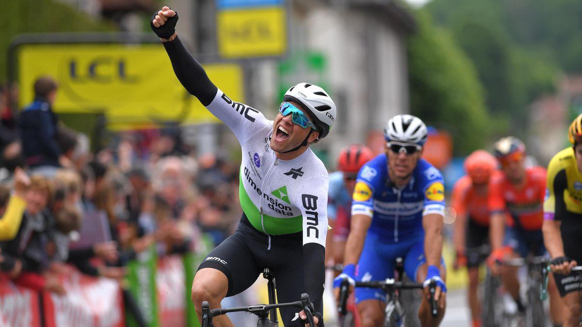 Edvald Boasson Hagen (Dimension Data) remporte la première étape du Dauphiné