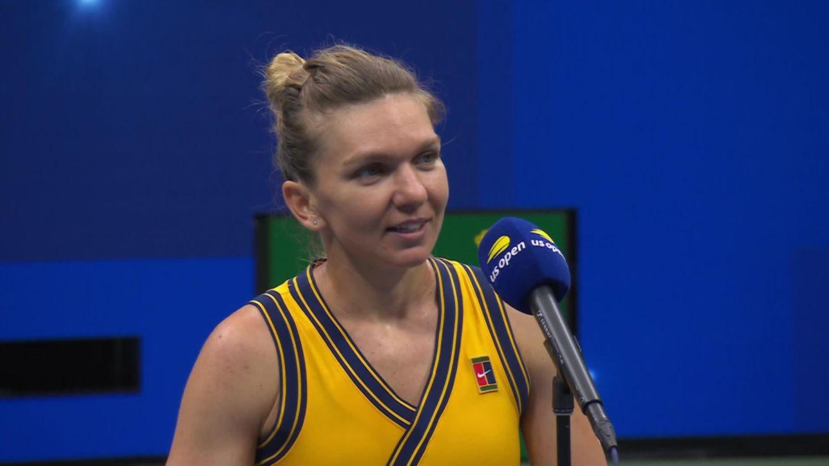 US Open - Kucova v Halep - Interview after match Halep
