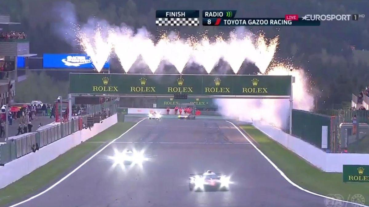Spa 6 hours finish, WEC 2017 (Eurosport)