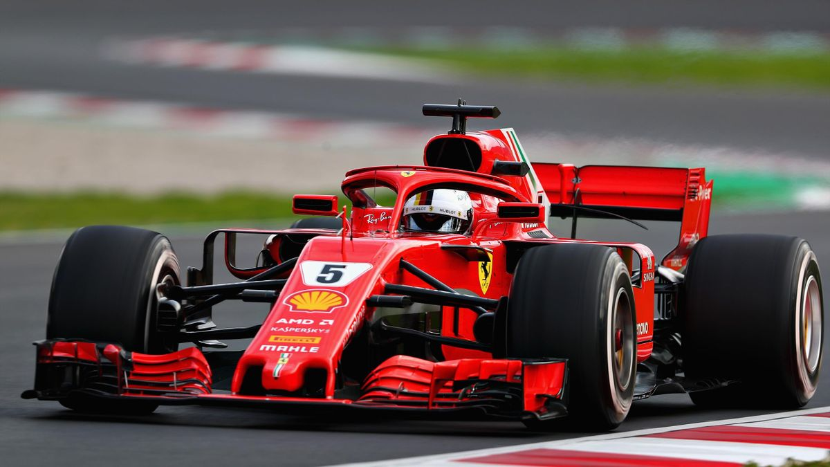 Sebastian Vettel of Germany driving the (5) Scuderia Ferrari SF71H on track during day three of F1 Winter Testing at Circuit de Catalunya on March 8, 2018 in Montmelo, Spain.