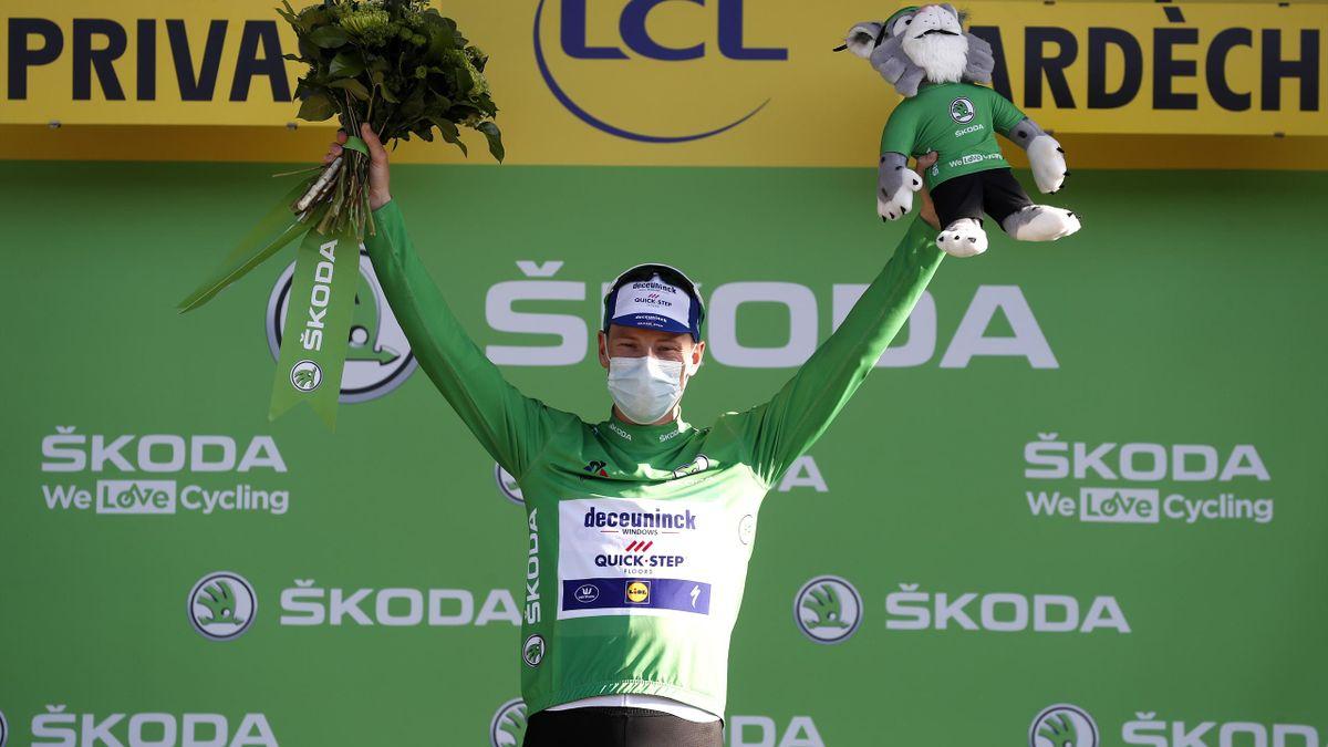 Ireland's Sam Bennett (Deceuninck-QuickStep) in the green jersey after Stage 5 of the 2020 Tour de France