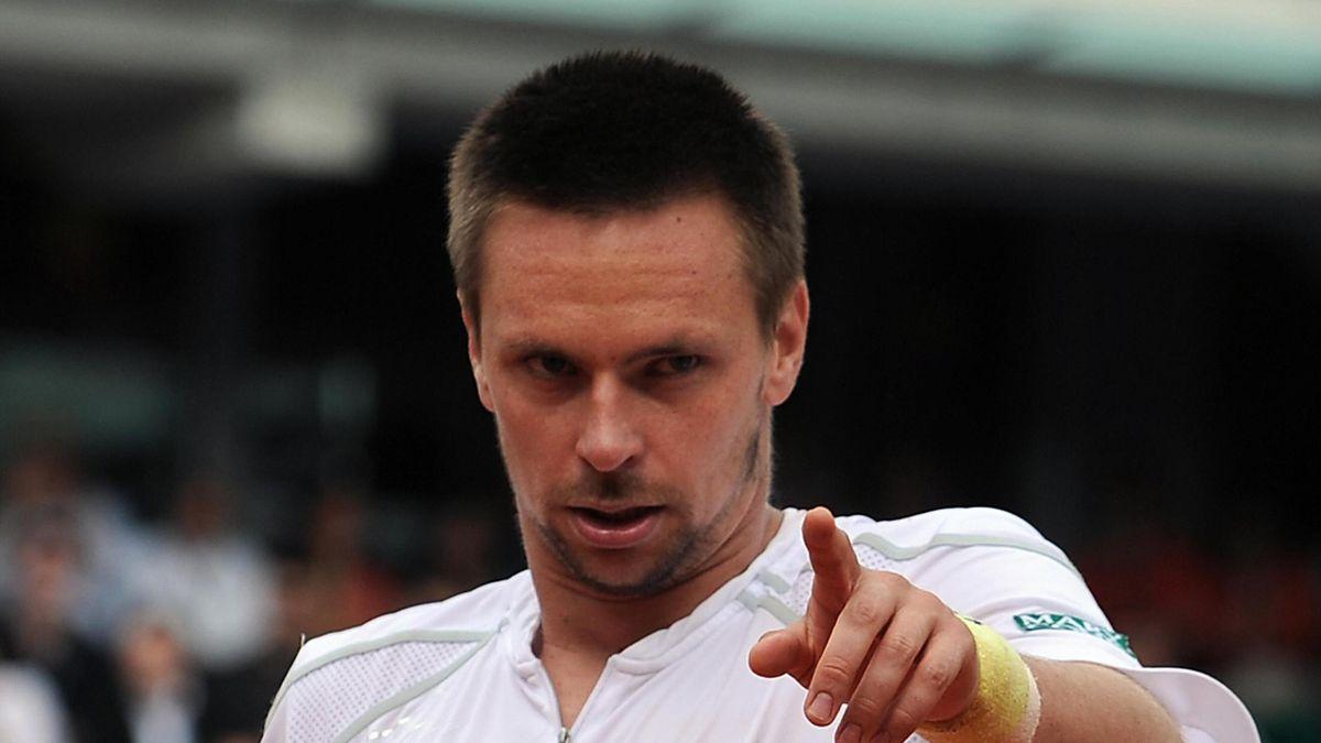 Robin Söderling à Roland-Garros en 2009