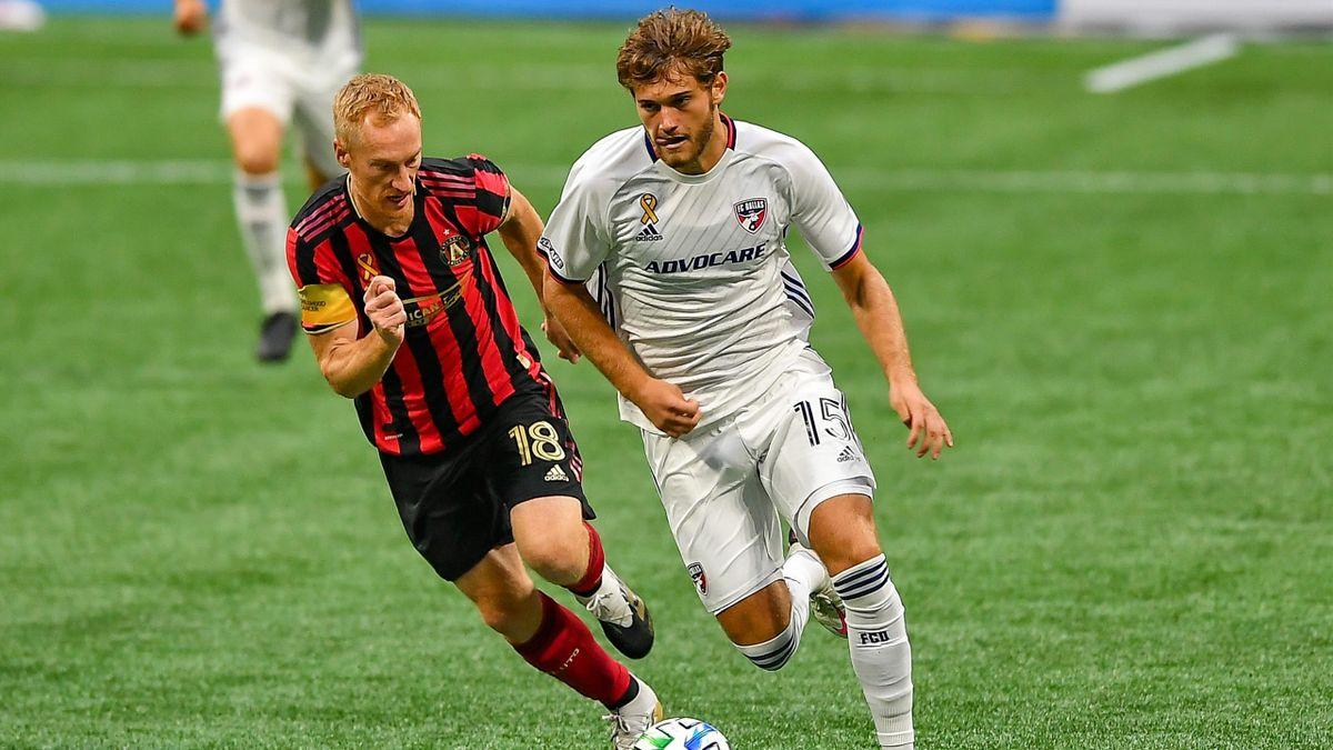 Tanner Tessmann (rechts) steht beim FC Dallas unter Vertrag
