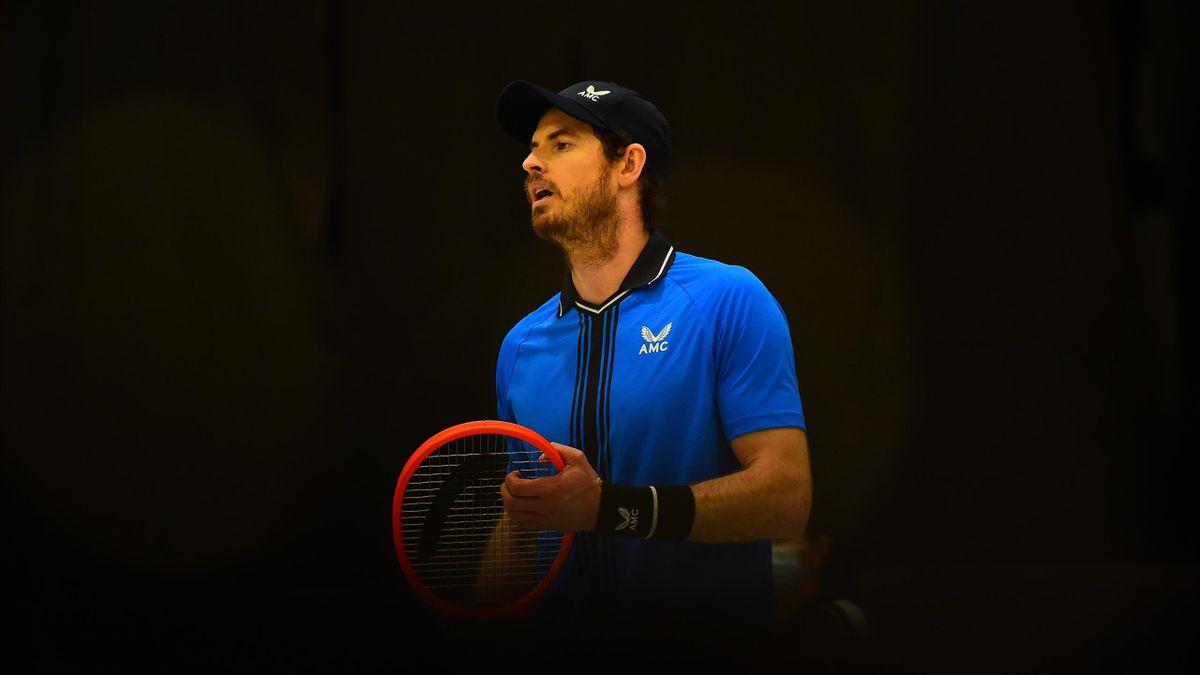 Andy Murray lors de la finale du Challenger de Bielle en 2021